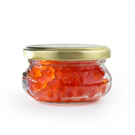 Keta Lachskaviar 100g Zarendom Premium Gold, Glas