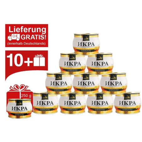 10x Zarendom® Premium 500g Lachskaviar + 250g Dose GRATIS
