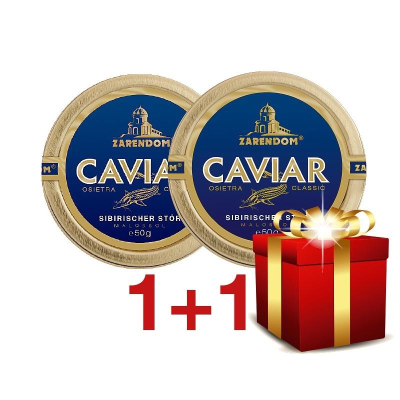 1+1 Zarendom® Kaviar vom Sibirischen Stör 50g
