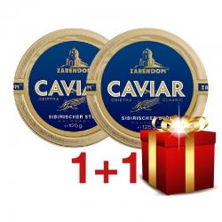 1+1 Zarendom® Kaviar vom Sibirischen Stör 125g