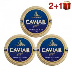 """""""2+1"""" 125g Zarendom® Kaviar vom Sibirischen Stör"""