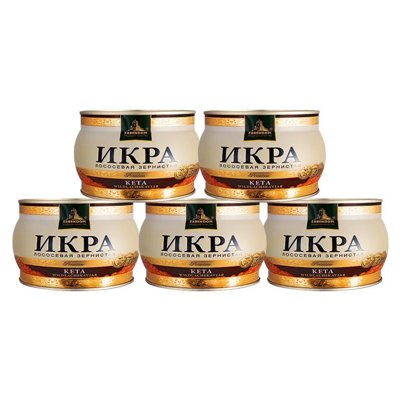 5x 400g Keta-Lachskaviar Premium Dose