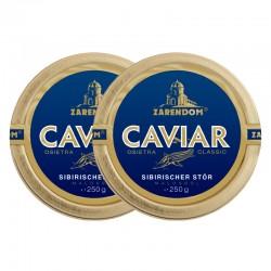 1+1 Zarendom Kaviar vom Sibirischen Stör 250g